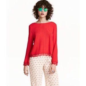 NWT H&M Coachella Bell Sleeve Blouse